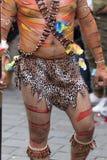 下体从厄瓜多尔人亚马逊的服装细节 免版税库存照片