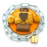 下关键锁定甜点 免版税库存图片