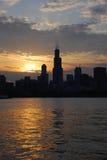下午好芝加哥 免版税库存图片
