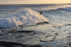 下午海浪会议 免版税库存图片