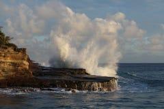 下午海浪磅 库存图片