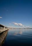 下午海湾远景 库存照片