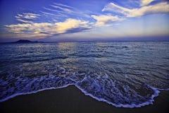 下午海滩后夏威夷 免版税库存图片