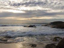 下午海滩 免版税库存照片