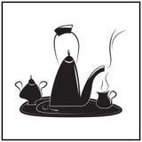 下午茶时间的例证 图库摄影