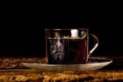 下午茶时间葡萄酒茶 免版税库存照片