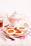 下午茶时间饼干 库存照片