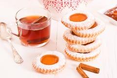下午茶时间饼干 免版税库存照片