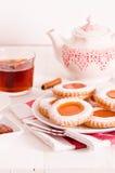 下午茶时间饼干 库存图片