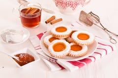 下午茶时间饼干 图库摄影