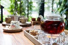 下午茶集合 免版税图库摄影