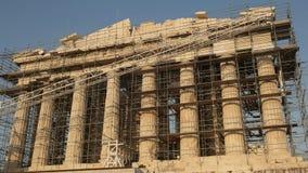 下午被射击帕台农神庙在雅典,希腊