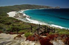 下午阿尔巴尼澳洲西部海滩的场面 免版税库存图片