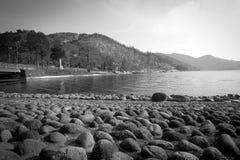 下午chuzenji湖 免版税图库摄影