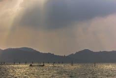 下午Songkhla湖视图 免版税图库摄影