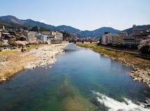 下吕Onsen,最佳一的日本的三onsen 库存图片