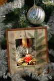 下圣诞树 库存图片