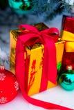下圣诞节礼物结构树 免版税图库摄影