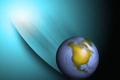 下坡世界 免版税库存图片