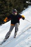 下坡滑雪 免版税库存图片