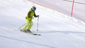 下坡非职业滑雪者 股票录像