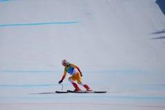 下坡paralympic滑雪 免版税库存图片