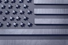 下垂木头美国特写镜头,黑白,在灰色口气 库存照片