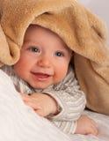 下婴孩毯子 免版税库存照片