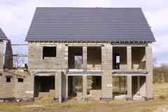 下建筑房子 免版税库存图片
