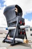水下弓:鱼雷发射管和声纳罩 免版税库存照片