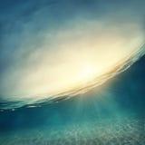 水下抽象的背景 免版税库存照片