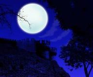 下月亮 免版税图库摄影