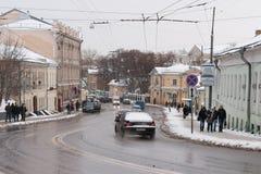 下来交通上部Radishevskaya街道 免版税图库摄影