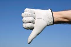 下来产生高尔夫球运动员符号略图 库存图片