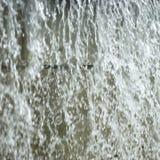 下来冲的水 免版税库存图片
