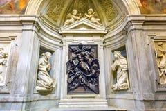 下来基督十字架雕象圣玛丽亚德拉步幅教会罗马意大利 库存图片