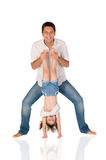 下来女儿增长 免版税库存图片