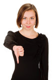 下来妇女拇指 库存照片