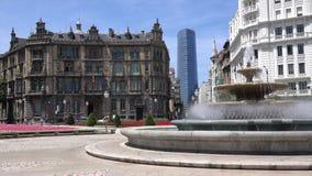 下来平底锅喷泉在莫亚广场 股票录像