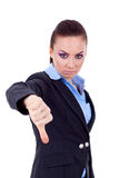 下来打手势略图妇女的商业 免版税图库摄影