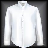 下来按钮衣领正式衬衣 免版税库存照片