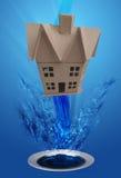 下来排泄房子洗涤物 免版税图库摄影