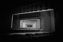 下来楼梯顶视图 免版税库存图片