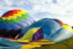 下来气球 免版税库存照片