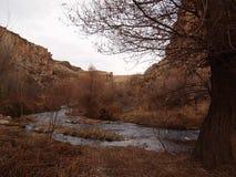 下来河在美丽的Ihlara谷 免版税图库摄影