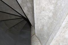 从下来的螺旋台阶 库存照片