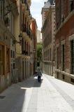 下来马德里西班牙城镇 免版税库存照片