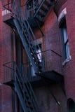 下来黑色梯子 免版税图库摄影