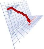 下来3d红色趋势 免版税库存图片