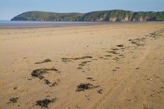 下来Brean海滩和Brean Somerset 免版税库存照片